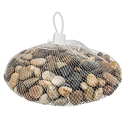 Supply Guru River Rocks, Pebbles, Outdoor Decorative Stones, Natural Polished Gravel, for Aquariums, Landscaping, Vase Fillers, Succulent, Tillandsia, Cactus Pot, Terrarium, Bamboo Plants.
