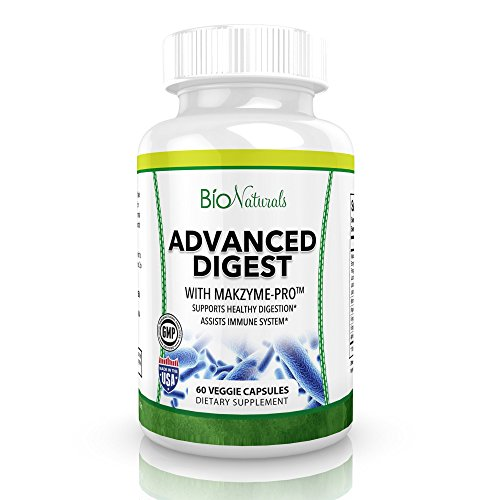 Advanced Digestive Enzymes – All Natural Plant Based Supplement with Probiotics, Bromelain, Lactase, Lipase & Protease – Aids Healthy Digestion & Relief of Gas, Bloating & IBS – 60 Vegetarian Capsules