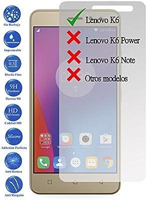 Todotumovil Protector de Pantalla Lenovo K6 y K6 Power de Cristal Templado Vidrio 9H para movil: Amazon.es: Electrónica