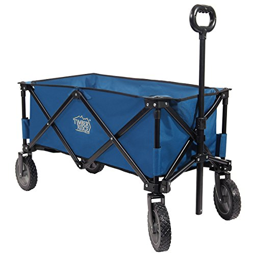 Timber Ridge TimberRidge Folding Camping Wagon, Garden Cart, Collapsible, Blue