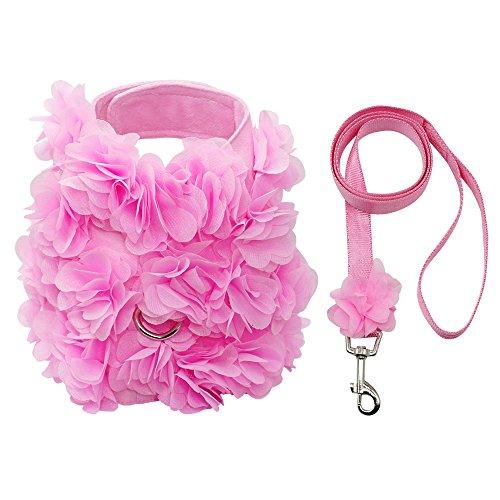 Buy dog harness pink set