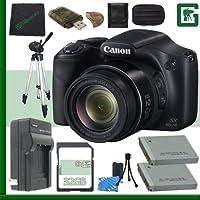 Canon PowerShot SX520 HS Digital Camera (Black) + 32GB Green's Camera Bundle 2 At A Glance Review Image