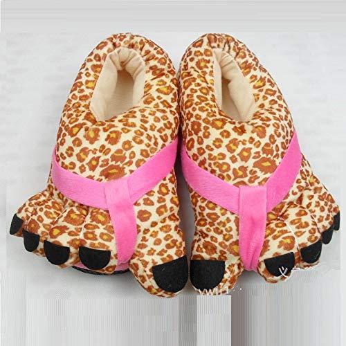 Weiwei Fumetto Tigre Antiscivolo Pantofole Artiglio Casa Cotone Di Unica nero Scarpe Rosa Spessore Caldo Wei taglia Cotone rvqIrX