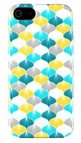 iPhone 5 / 5S Case, DandyCase PERFECT PATTERN *No Chip/No Peel* Flexible Slim Case Cover for Apple iPhone 5 / 5S - LIFETIME WARRANTY [Vintage Colorful Scales]