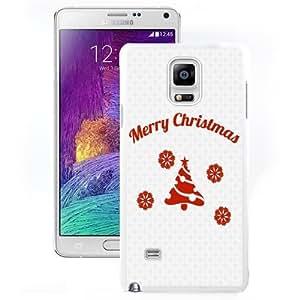 Fashionable Custom Designed Samsung Galaxy Note 4 N910A N910T N910P N910V N910R4 Phone Case With Simple Merry Christmas Message_White Phone Case