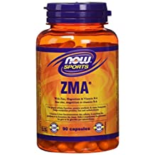 NOW Zma with Zinc, Magnesium and B-6 Capsules, 800mg, 90 Count