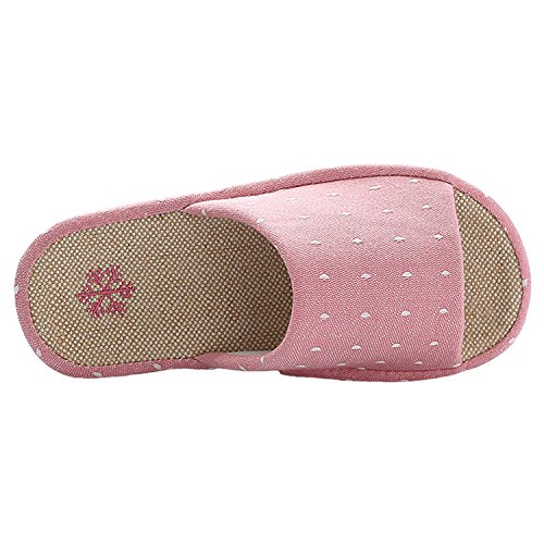 Design Women Comfortable Breathable bestfur Arch Casual Linen Slippers Red House vq7FTx1n