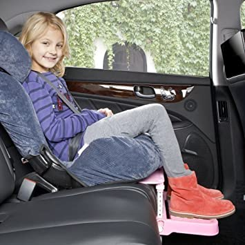 KneeGuardKids2 Car Seat Footrest Booster Pink By InGarden