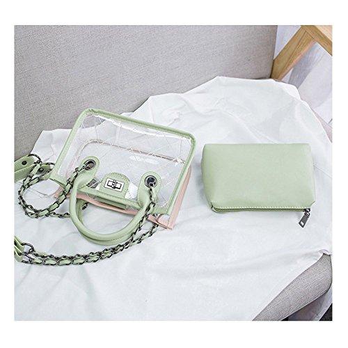 Verde piel estilo para AJLBT Bolso de cartera mujer A0xSaq1