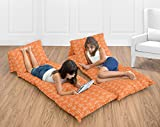 Orange and White Arrow Kids Teen Floor Pillow Case Lounger Cushion Cover (Pillows Not Included)