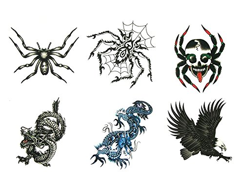 Six Pieces Of Caterpillar Temporary Tattoos Waterproof Stickers]()