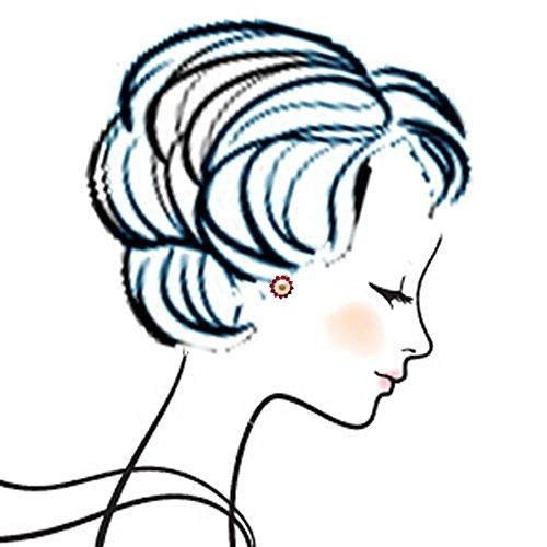 véritable Argent Sterling 925rubis et perle de culture Star Cluster-Boucles d'Oreilles Clous Femme-Pierre porte-bonheur Juin