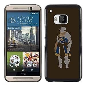 Paccase / SLIM PC / Aliminium Casa Carcasa Funda Case Cover para - Minimalist Knight - HTC One M9