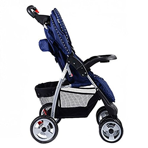 Foldable Baby Kids Travel Stroller Newborn Infant Buggy Pushchair Child Blue by Unknown (Image #3)