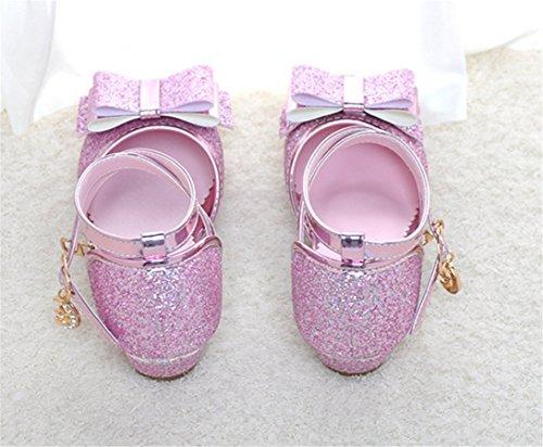 WLITTLE Bailarinas para niña Rosa