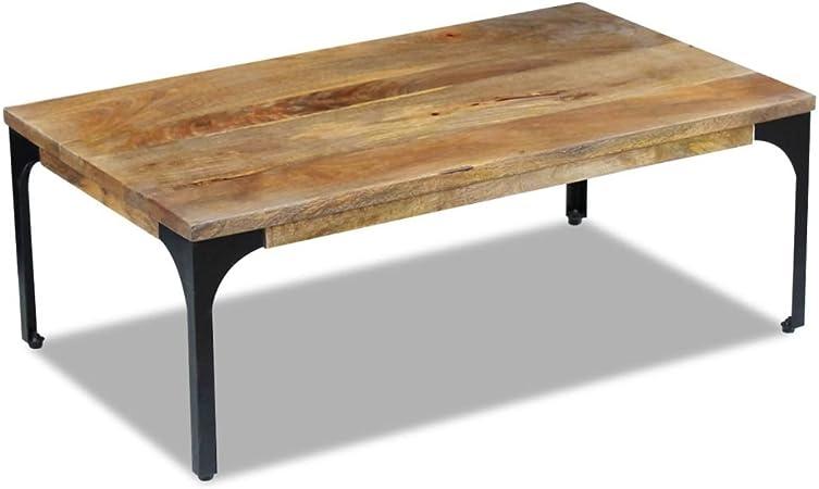Vidaxl Table Basse Pour Salon Table D Appoint Bois De Manguier 100