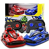 [Remote Control Bumper Cars] 2PC RC Toy Game 2 Radio Control Vehicles By Dacawin (Red+Blue)