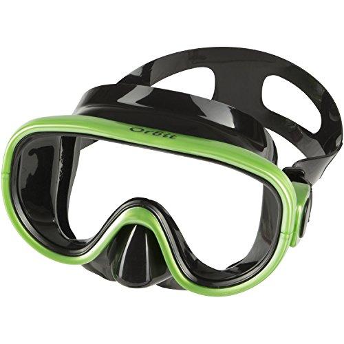 IST Orbit Snorkeling Gear Set: Tempered Glass Mask, Dry Top Snorkel & Trek Fins...
