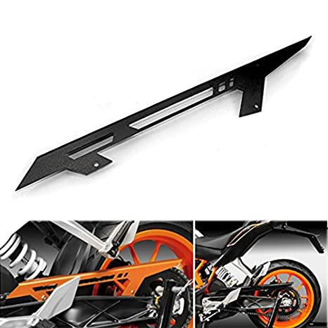 JFG RACING CNC Aluminum Chain Guard Cover Shield Protection for KTM 125 200 390 Duke 11-16 RC 125 200 390 14-16 Orange