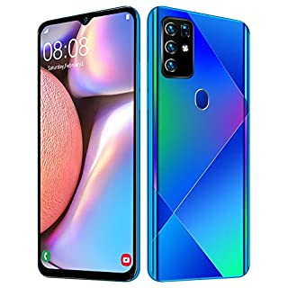 "Pusokei Unlocked Smartphones, 6+128G 6.5"" HD Smart Phone MTK6580P Four Core Android 10.0 Dual SIM Unlocked Cell Phones,14403040 Drop Screen Face Recognition Fingerprint Unlock(US)"