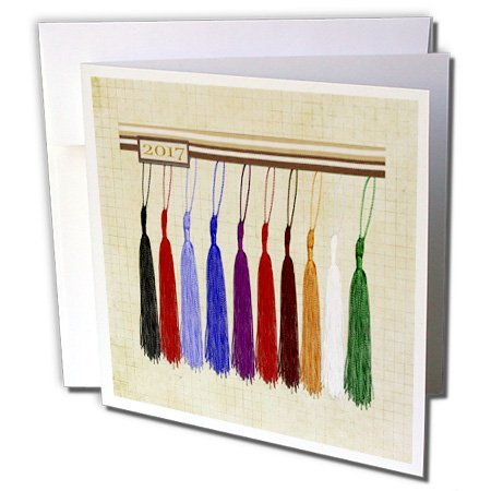 Beverly Turner Graduation Design - 2017, Colorful Tassels on Graph Paper - 12 Greeting Cards with envelopes (gc_234606_2)]()