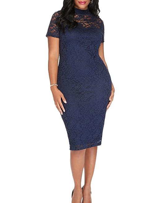 Mujer Vestidos Tallas Grandes Formal Vestido de Negocios Encaje Bodycon Faldas de Fiesta Armada 2XL