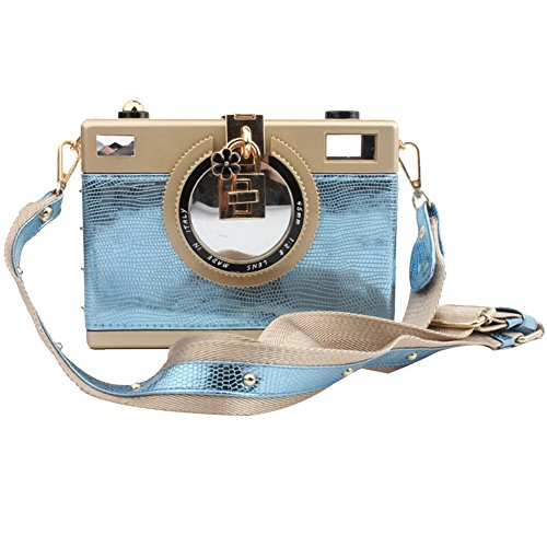 TOMATO-smile - Bolso mochila  de poliuretano para mujer negro negro Azul