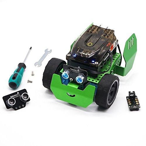 Robobloq Robot Kit, Robotics for Kids Age 6+, Line Tracking & Arduino Coding, STEM Toy Q-Scout (65 pcs)