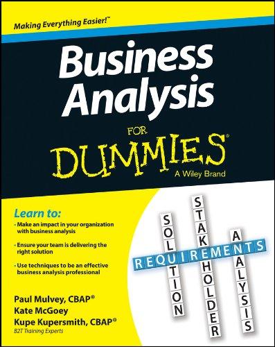 Business Analysis For Dummies pdf epub