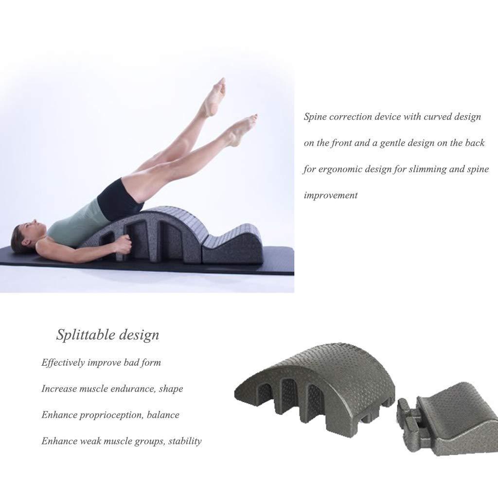 Wirbels/äule Orthese Pilates Wirbels/äulendeformit/ät Cervical Korrektur Yoga Foam Kyphosis Korrektur Fitnessger/äte Pilates Arc,Schwarz Qucasyl Pilates-Massage-Bett
