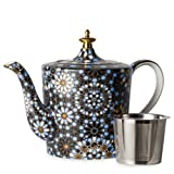 T2 Dazed and Dazzled Black Indigo - Fine Bone China TeaPot - 30.43oz
