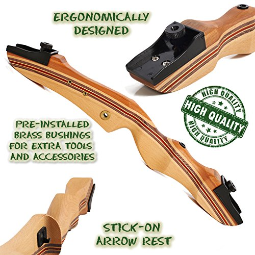 Takedown-Recurve-Bow-Hunting-Archery-Ergonomically-Designed-62-inch-hunting-bow-35-lb-draw-back-weight-Right-and-left-handed-Arrow-Rest-and-Stringer-Tool-and-Eye-Sight-included-Keshes-Archery
