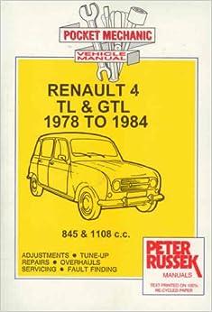 Descargar Con Mejortorrent Pocket Mechanic For Renault 4tl And 4 Gtl 845 And 1108 C.c. Engine, To 1984 Donde Epub