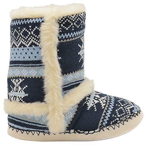 Boots Ankle Navy Blue Dunlop Slipper Womens qxztPCwO