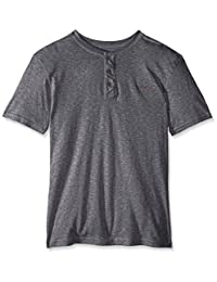 Silver Plate Henley Camisetas para Hombre