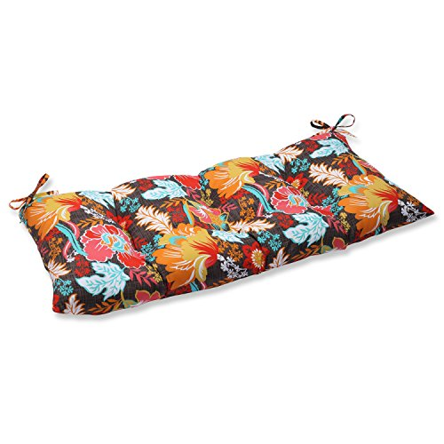 Pillow Perfect Outdoor Suzanne Miami Wrought Iron Loveseat Cushion, Multicolored