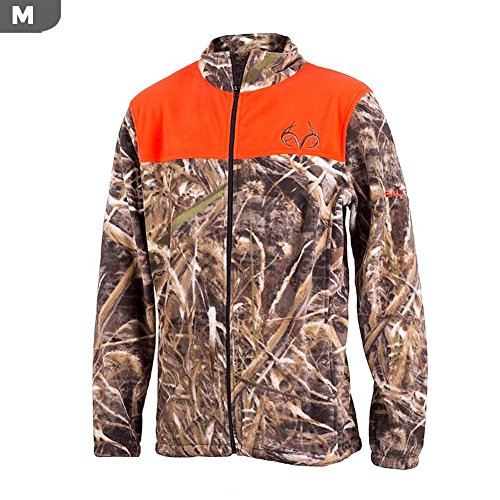 Realtree Men's Aspen Max-5 Camo Jacket (Medium, Blaze & - Clothing Aspen Shops