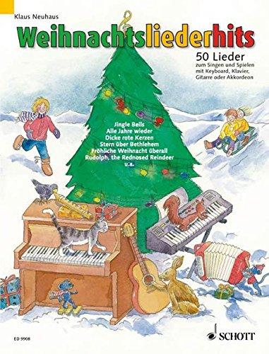 Weihnachtsliederhits: 50 Lieder zum Singen und Spielen. Gesang und Klavier, Keyboard, Akkordeon oder Gitarre (1 Melodie-Instrument ad lib.). Liederheft.