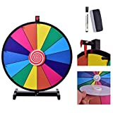 Globe House Products GHP 24'' Dx27.5 H Detachable & Portable Dry Erase Tabletop Color Prize Wheel w Mark Pen