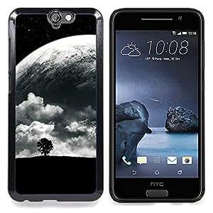 SKCASE Center / Funda Carcasa protectora - Árbol solo y Luna;;;;;;;; - HTC One A9
