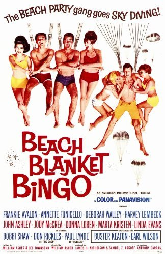 Beach Blanket Bingo POSTER Movie (11 x 17 Inches - 28cm x 44cm) (1965) by Decorative Wall Poster
