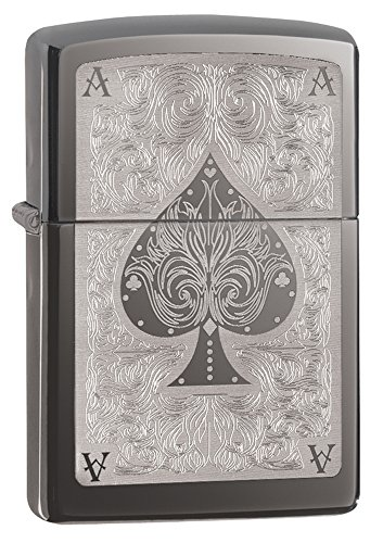 Zippo Spade Card Pocket Lighter, Black (Zippo Grill)