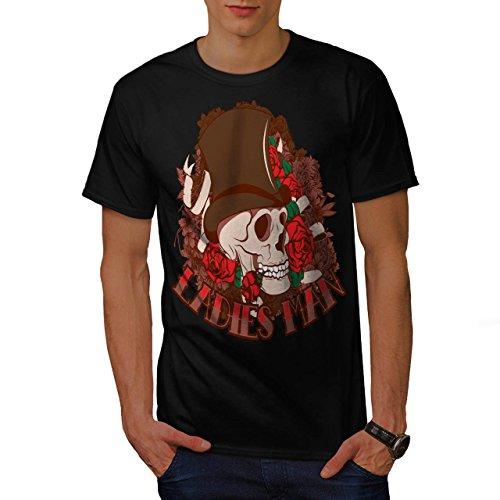 Ladies Man Skull Romantic Gent Men M T-shirt | Wellcoda (Birds Of War Costume)