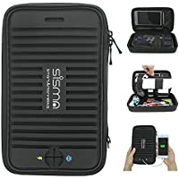 Sisma Travel Electronics Accessories Organizer Carrying Bag for Power Bank Cords Adapter Earphones Memory Cards USB-Sticks GPS HDD and More Small Parts (Black)