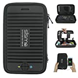 Sisma Travel Organizer Carrying Bag for Small Electronics and Accessories Black SCB16128S-WB-B
