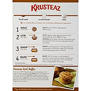 Krusteaz Cinnamon Swirl Crumb Cake And Muffin Mix 21 Ounce from Continental Mills