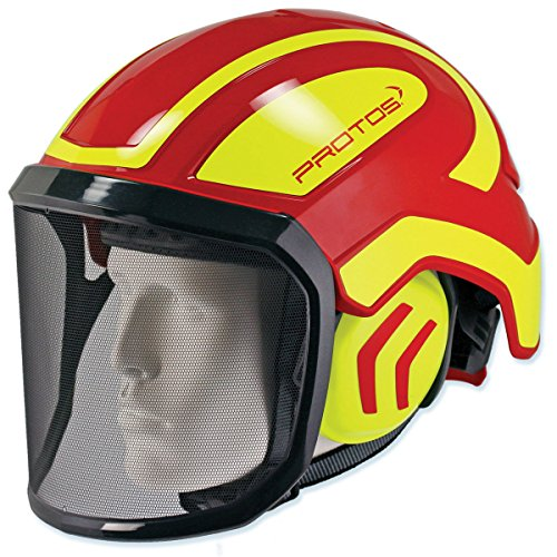 Pfanner Protos Helmet - Red & Yellow by Protos