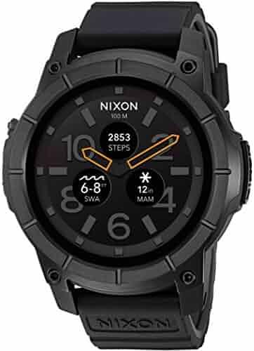 Nixon 'Mission' Smartwatch, Color:Black (Model: A1167-001)