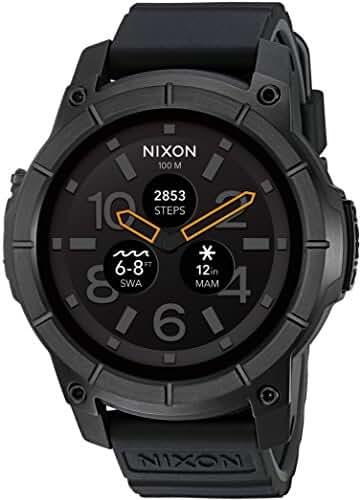 Nixon 'Mission' Smartwatch, Color: Black (Model: A1167-001)