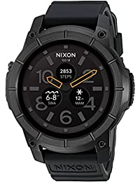 Mission Action Sports Smartwatch A1167001-00. All Black Men's Watch (48mm. Black Face/Black Silicone Band)